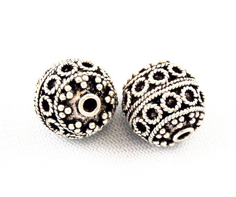 Large Bali Sterling Silver Beads 16mm