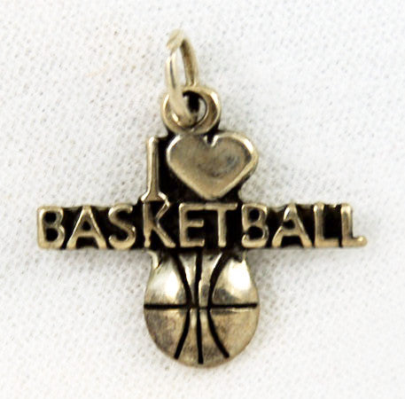 Sterling Silver Basketball Lover's Charm Vintage