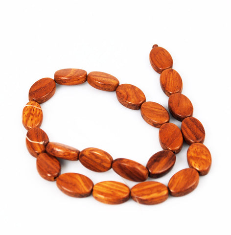 Bayong Wood Oval Bead Strands