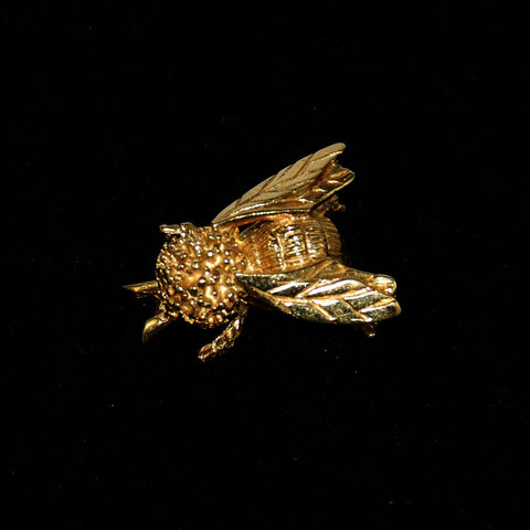 14K Gold Bumble Bee Brooch