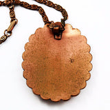 Back of Vintage Bell Trading Post Copper & Turquoise Necklace