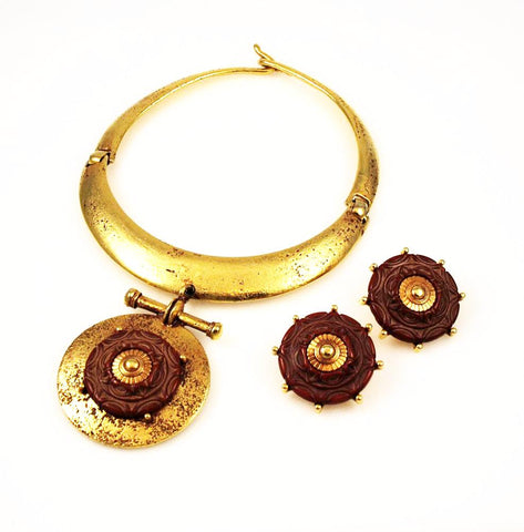Ben Amun Statement Necklace and Earrings Vintage