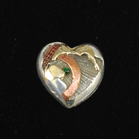 Mixed Metal Pocket Heart Benner Studios