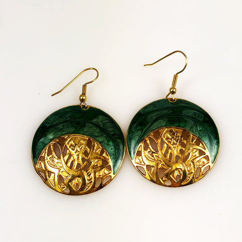 Berebi Green and Gold Earrings