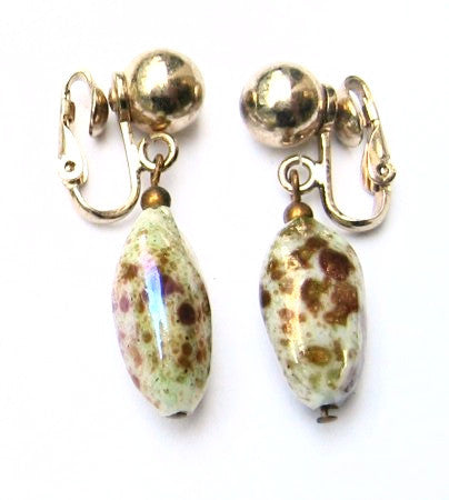 Bergère Art Glass Drop Earrings