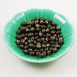 Black Cloisonne 10mm Oval Beads Vintage