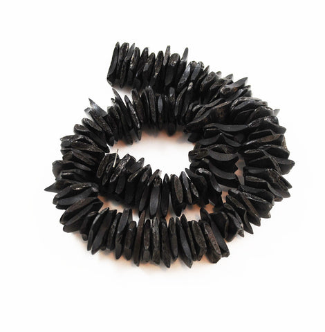 Black Coco Chip Bead Strands 18-22mm