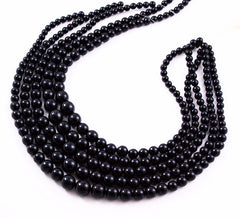 Black Coral Round Graduated Strands Rounds Rare Natural AA Vintage