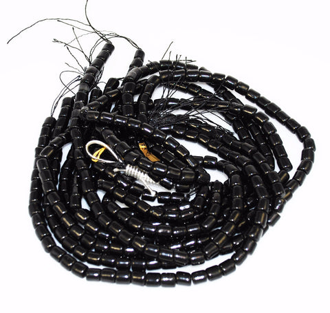 Black Coral Tube Beads 7mm Rare Natural AA Vintage