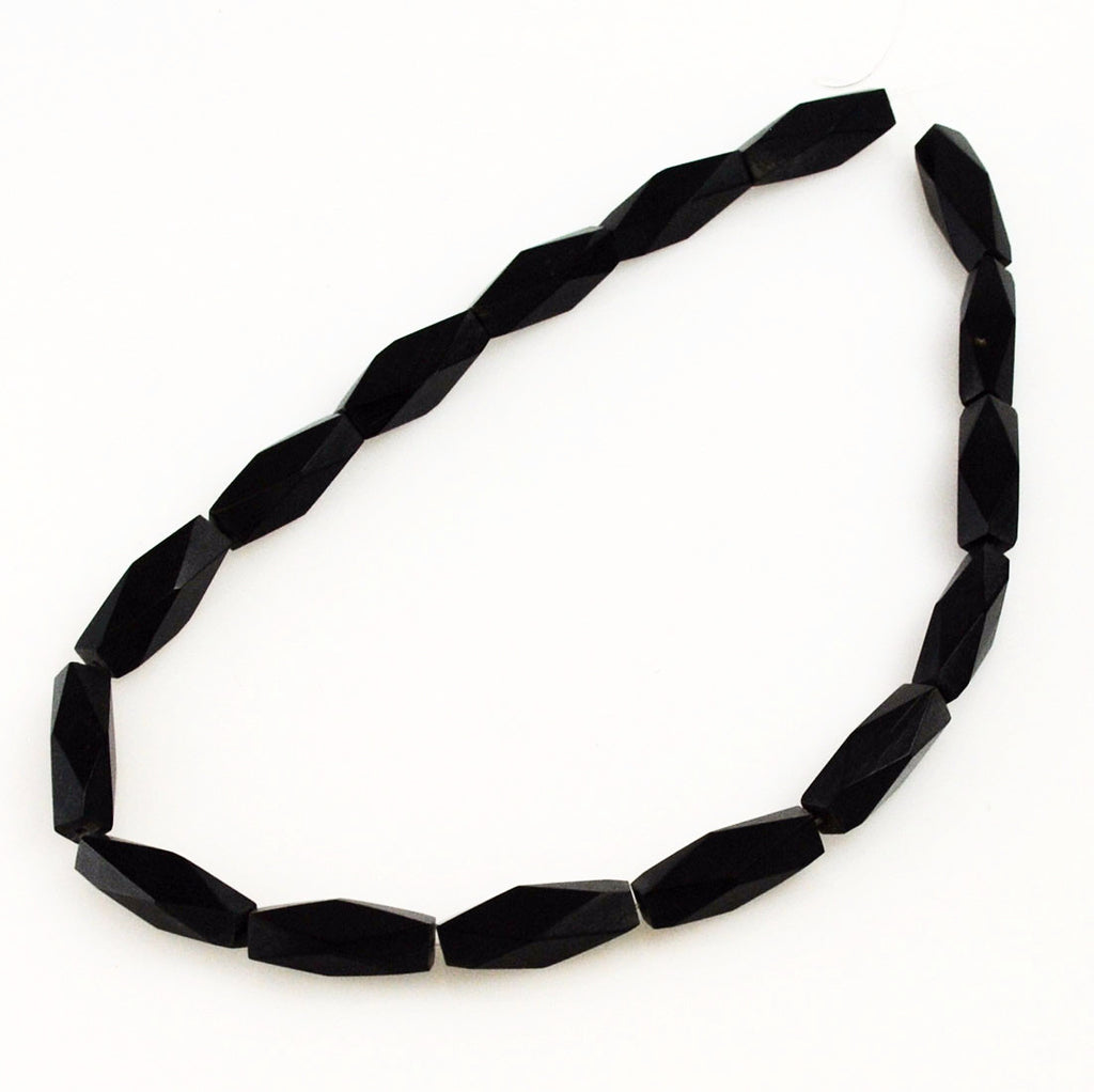 Black Horn Diamond Bead Strands 8 x 25mm