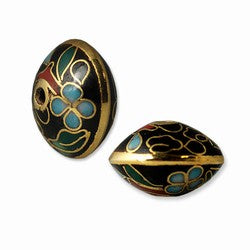 Black Cloisonne Saucer Beads Chinese