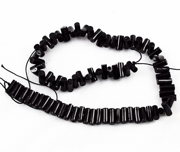 Vintage Black Coral Stick Beads Strands Rare Natural AA Coral