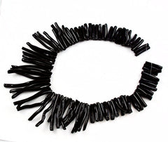 Extra Long Black Coral Stick Beads Strands Rare Natural AA Coral