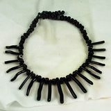 Black Coral Graduated Stick Beads Natural