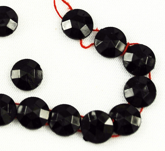 Jet Black Nailhead Beads Two Holes