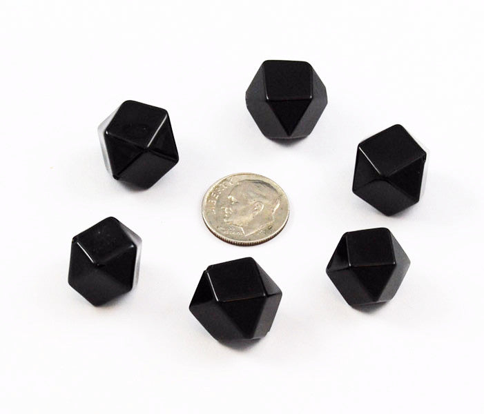 Black Onyx Gemstone Hexagon Beads 14mm