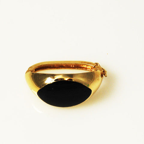 Black Onyx & Gold Twister Clasp Shortener