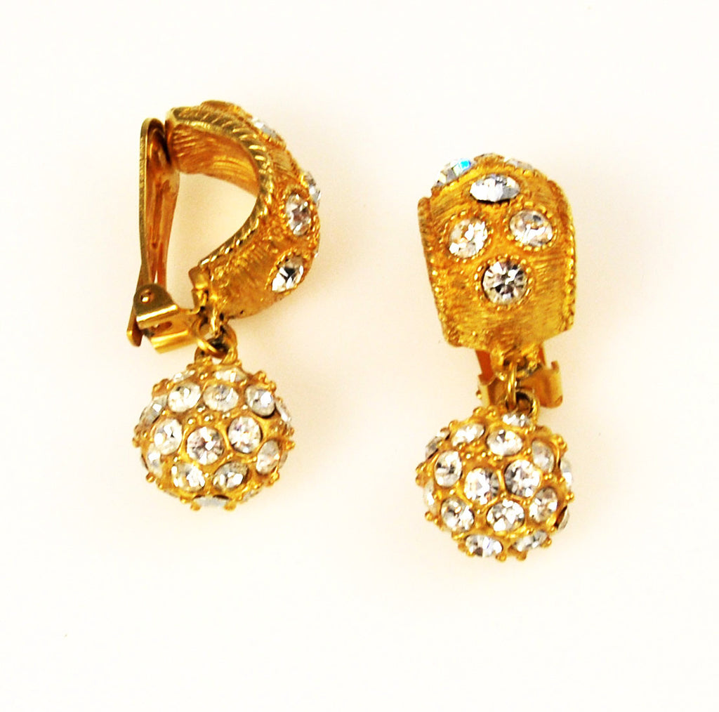 Blanca Elegant Rhinestone Clip On Earrings