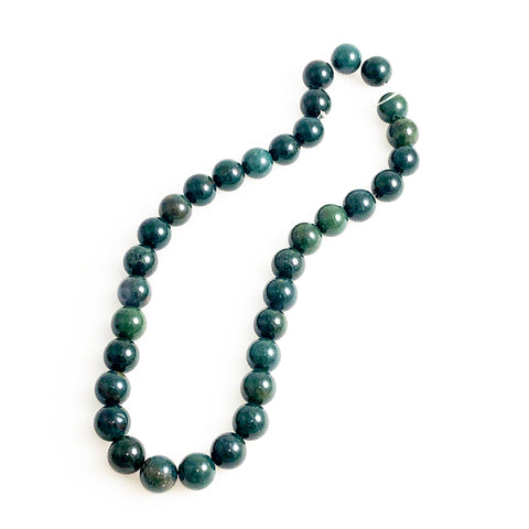 Green Bloodstone Round Beads - A Quality Strands Gemstone