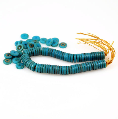 African Trade Beads Sliced Blue Prosser