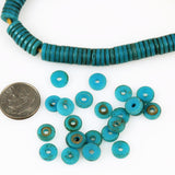 African Trade Sliced Blue Prosser Beads