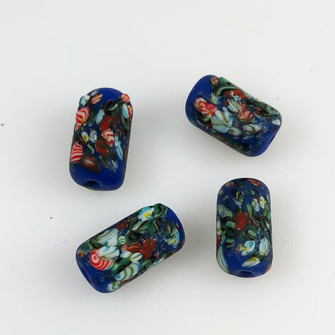 Antique Blue Millefiori African Trade Beads