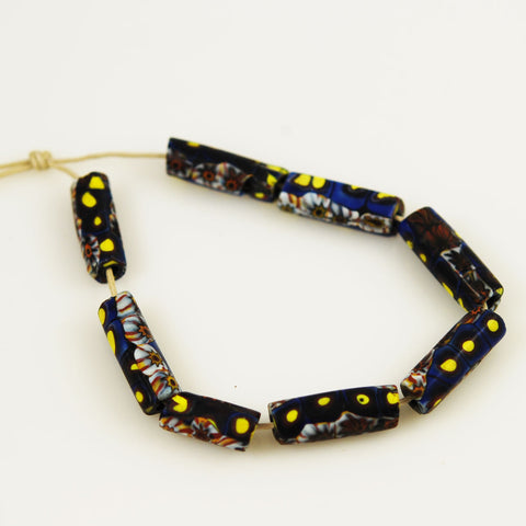 Blue Millefiori African Trade Beads