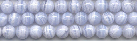 Blue Lace Agate Round Bead Strands Gemstone