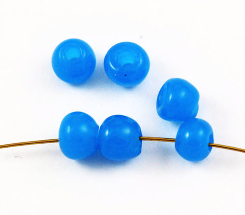 Vintage Blue Pony Glass Trade Beads