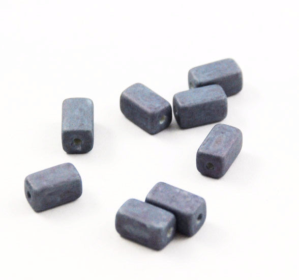 Blue Ceramic Rectangle Beads