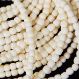 5mm Carved Bone Bead Strands