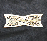 Back of Victorian Pierced Bone Floral Brooch