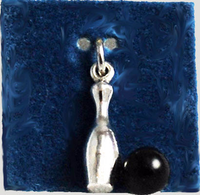 Sterling Silver Wells Bowling Charm Vintage