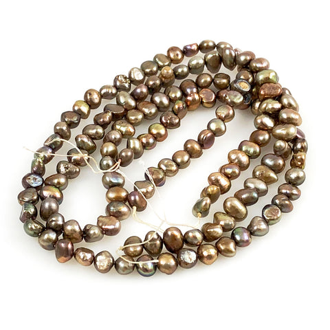 Bronze Freshwater Pearl Beads