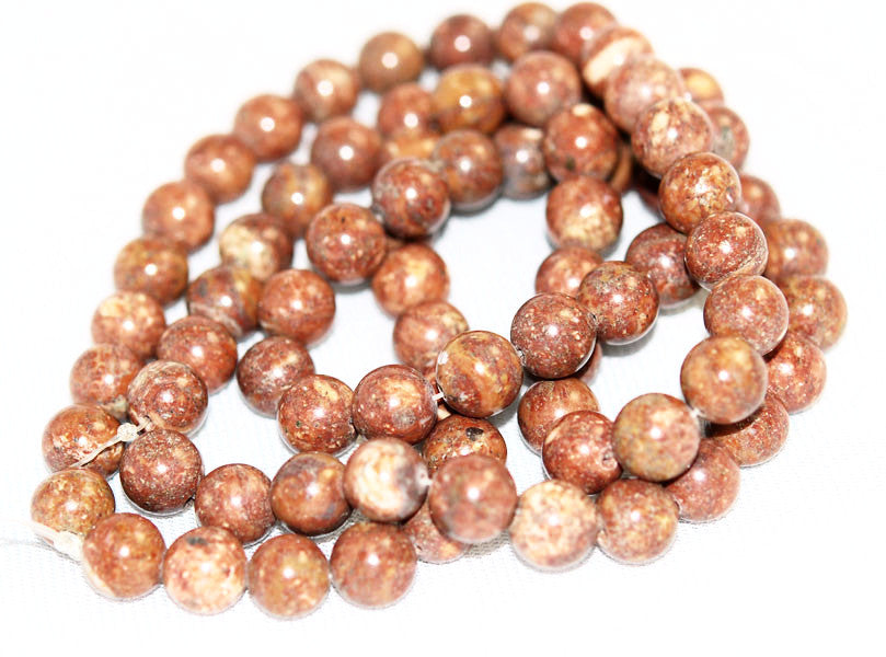 Brown Fossil Gemstone Bead Strands