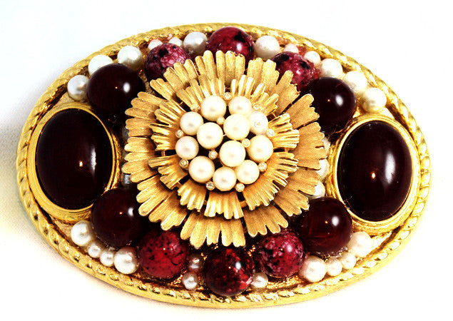 Fancy Jeweled Belt Buckle