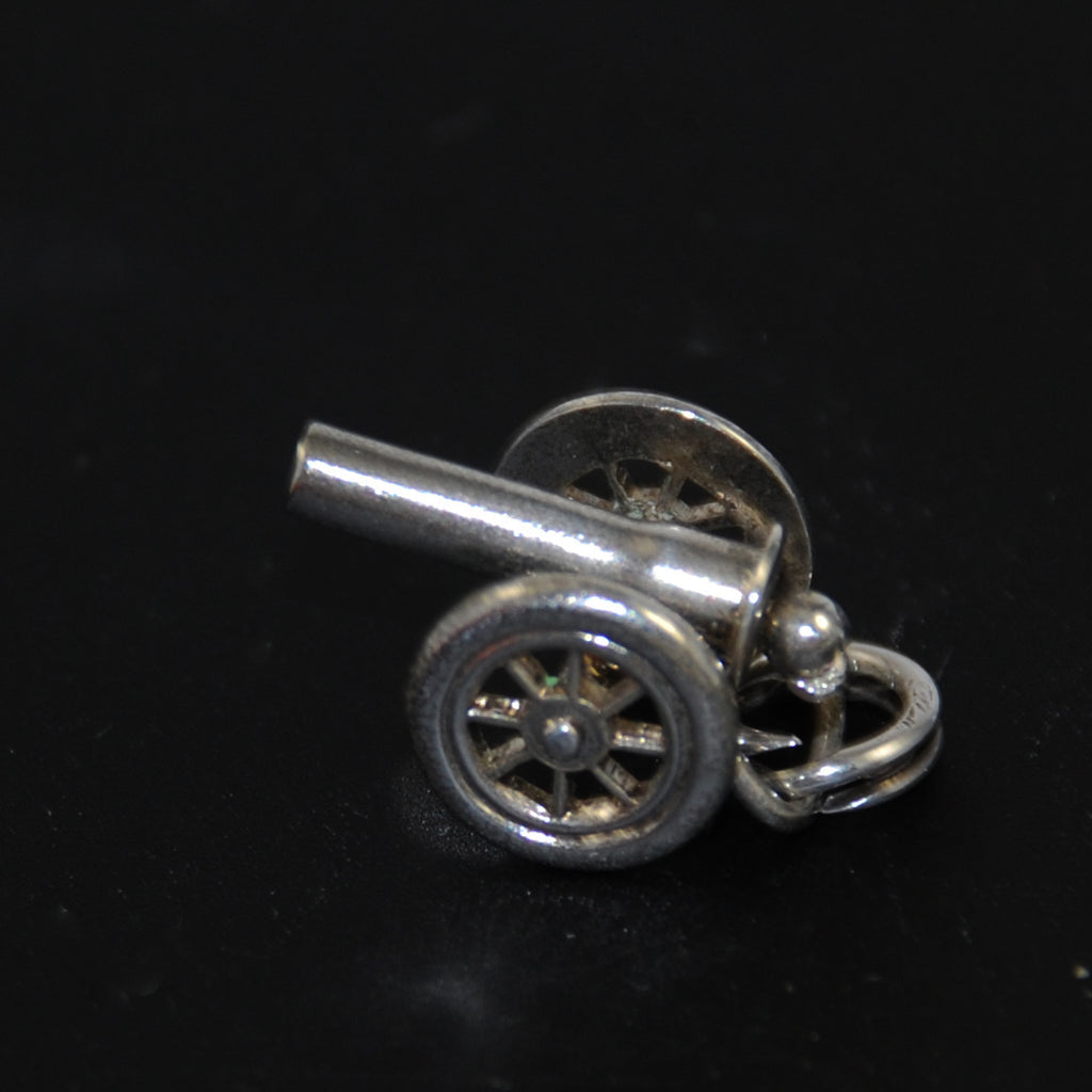 Cannon Mechanical Sterling Silver Charm by JMF