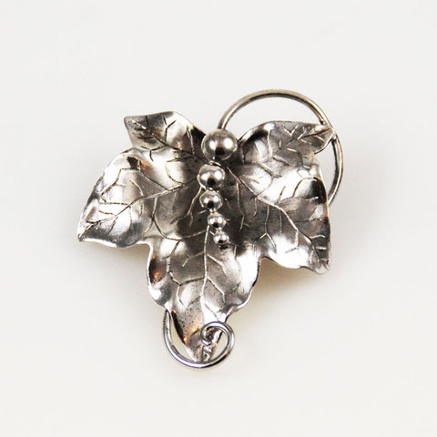 Sterling Silver Leaf Brooch Carl Art