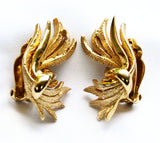 Carnegie Gold Plated Brooch & Earring Set