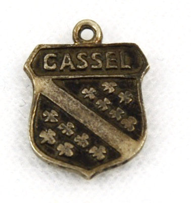 Cassel, Germany Travel Shield Silver Charm