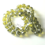 Vintage Celedon Green Glass Beads 13mm