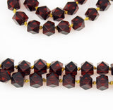 Cherry Amber Bakelite Necklace Faceted Beads Art Deco