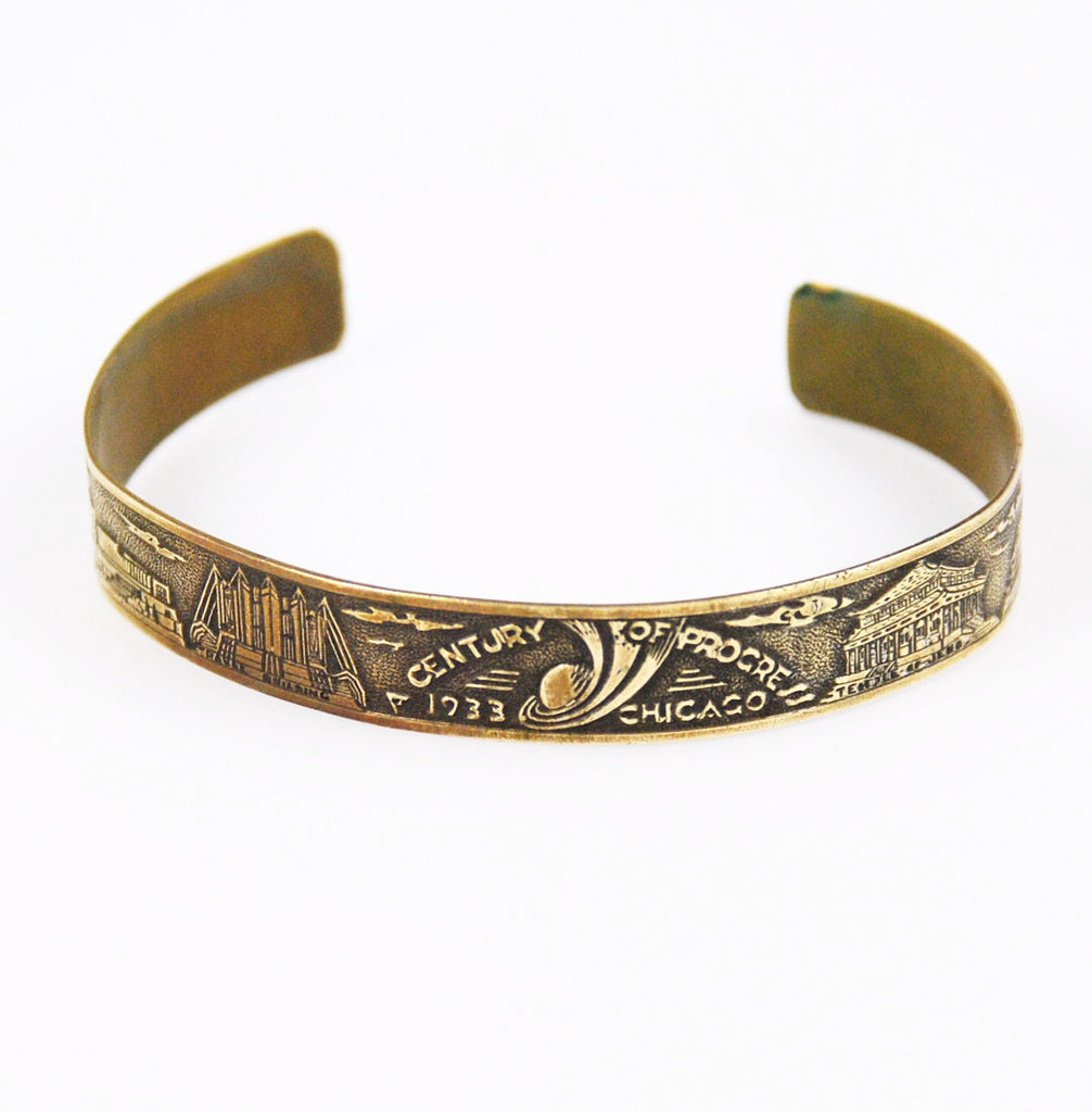 Chicago World's Fair 1933 Copper Bracelet