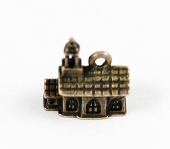Beau Sterling Silver Church Charm Vintage