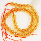 Faceted citrine beads 10mm rounds