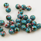 Turquoise blue cloisonne beads