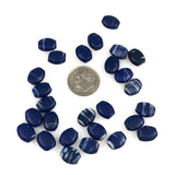 Cobalt Blue Antique Oval Beads