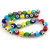 Evil eye glass beads Colorful