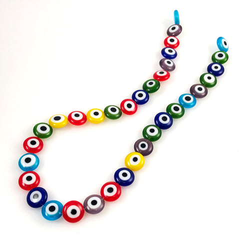 Colorful Glass Eye Beads Flat Lamp Work