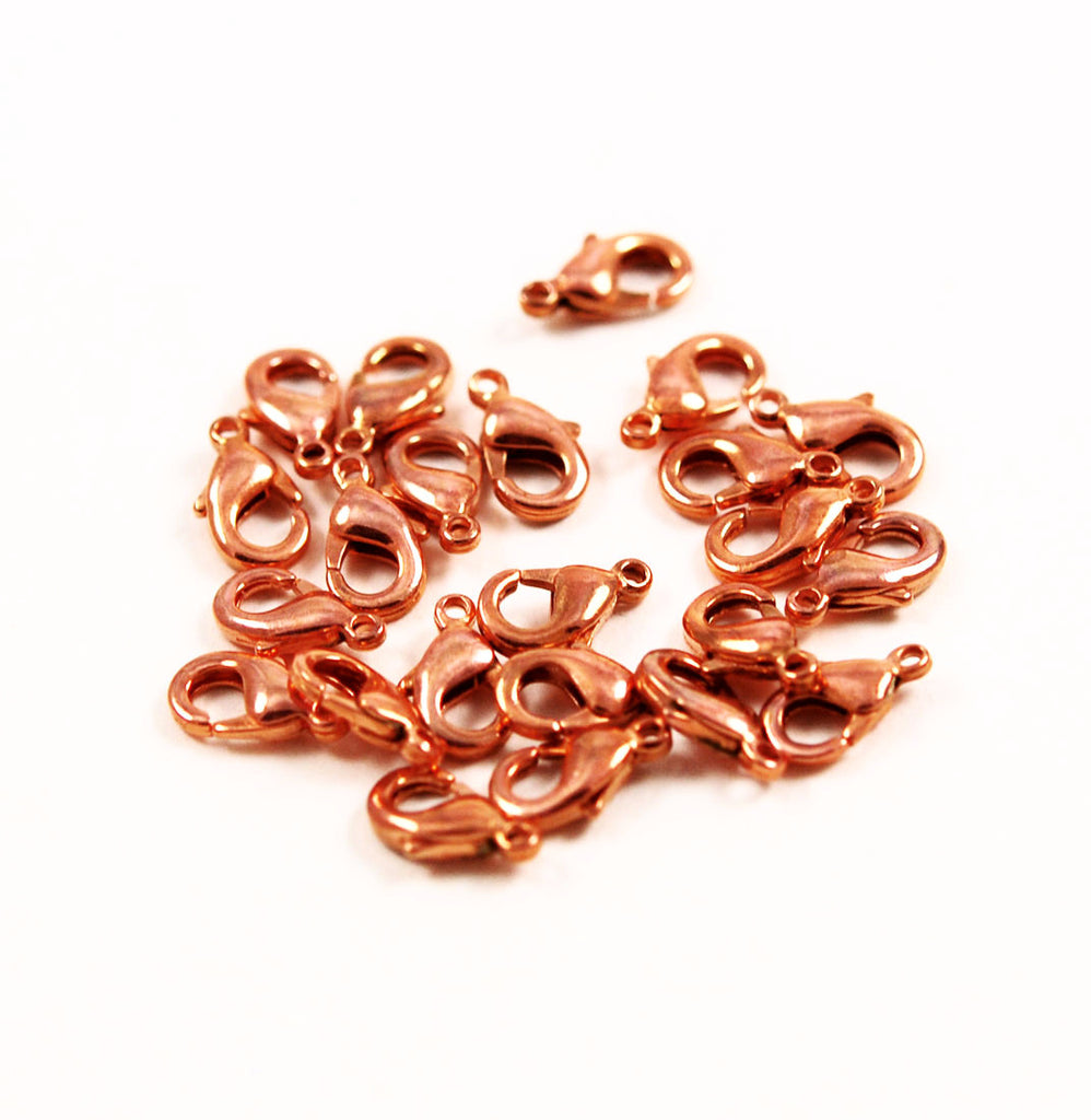 Copper Lobster Clasps